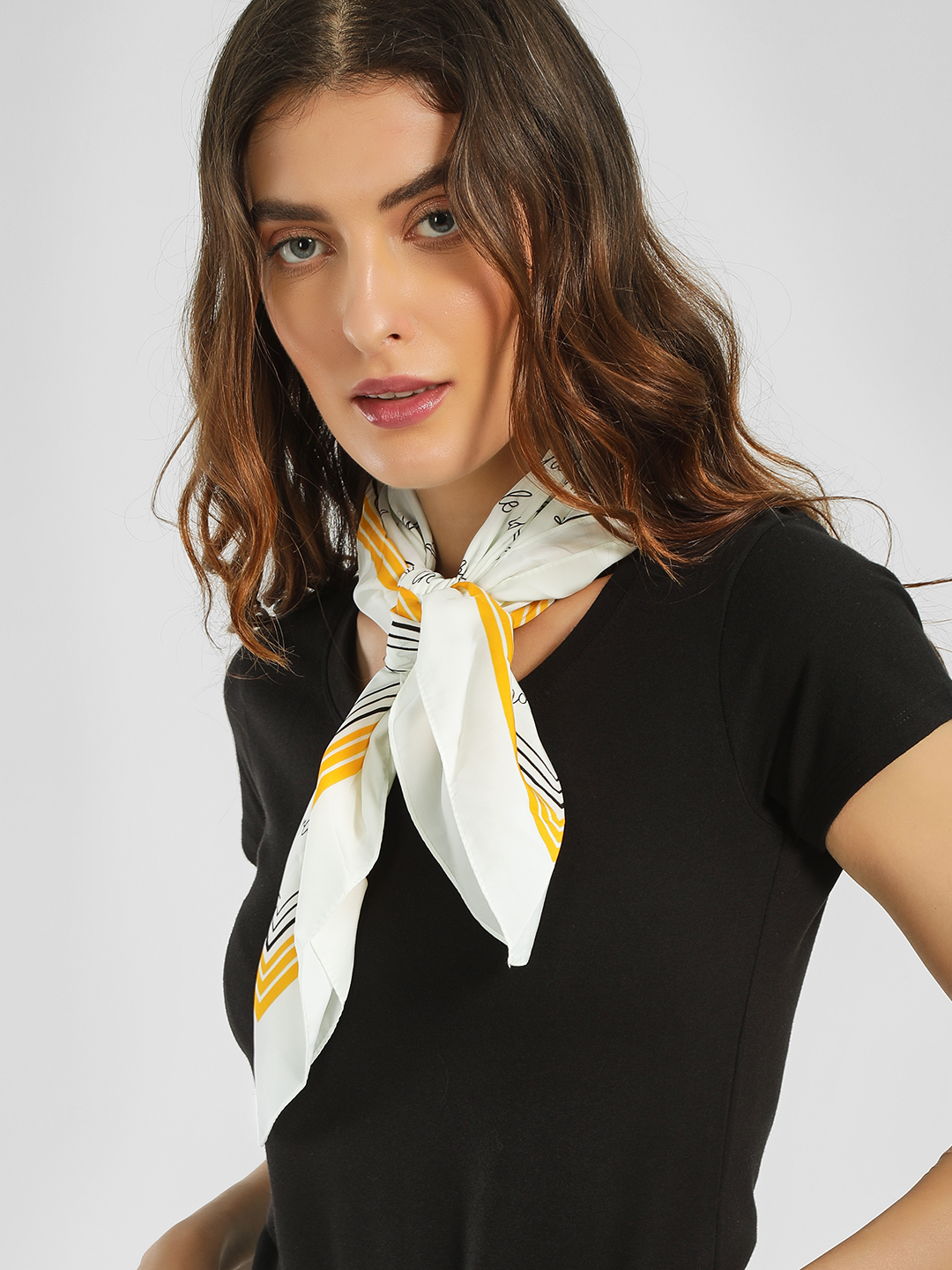Only Multi Text Print Statement Scarf 1