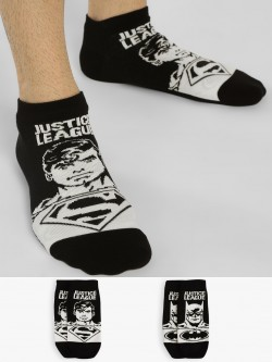 Balenzia Superhero Print Low Ankle Socks (Pack Of 2)