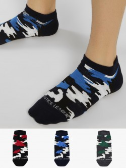 Balenzia Camouflage Low Ankle Socks (Pack Of 3)