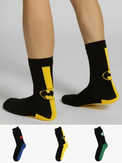 Balenzia Superhero Logo Quarter Length Socks (Pack Of 3)