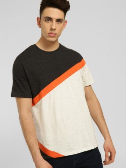 Cant Find My Knees Colour Block Cut & Sew T-Shirt