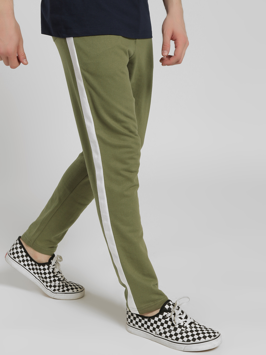Garcon Green Contrast Side Tape Knitted Trousers 1