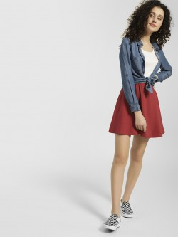 KOOVS Basic Mini Skater Skirt