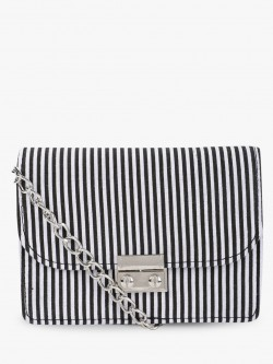 Quiz Vertical Stripe Sling Bag