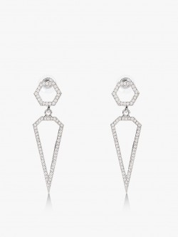 Quiz Diamante Spike Earrings