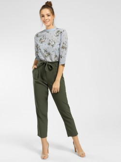 New Look Paperbag Waist Cropped Trousers