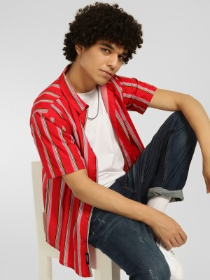KOOVS Vertical Stripe Casual S...