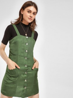 KOOVS Twin Pocket Pinafore Dress