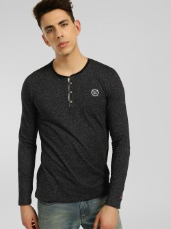 Being Human Textured Knit Henley T-Shirt