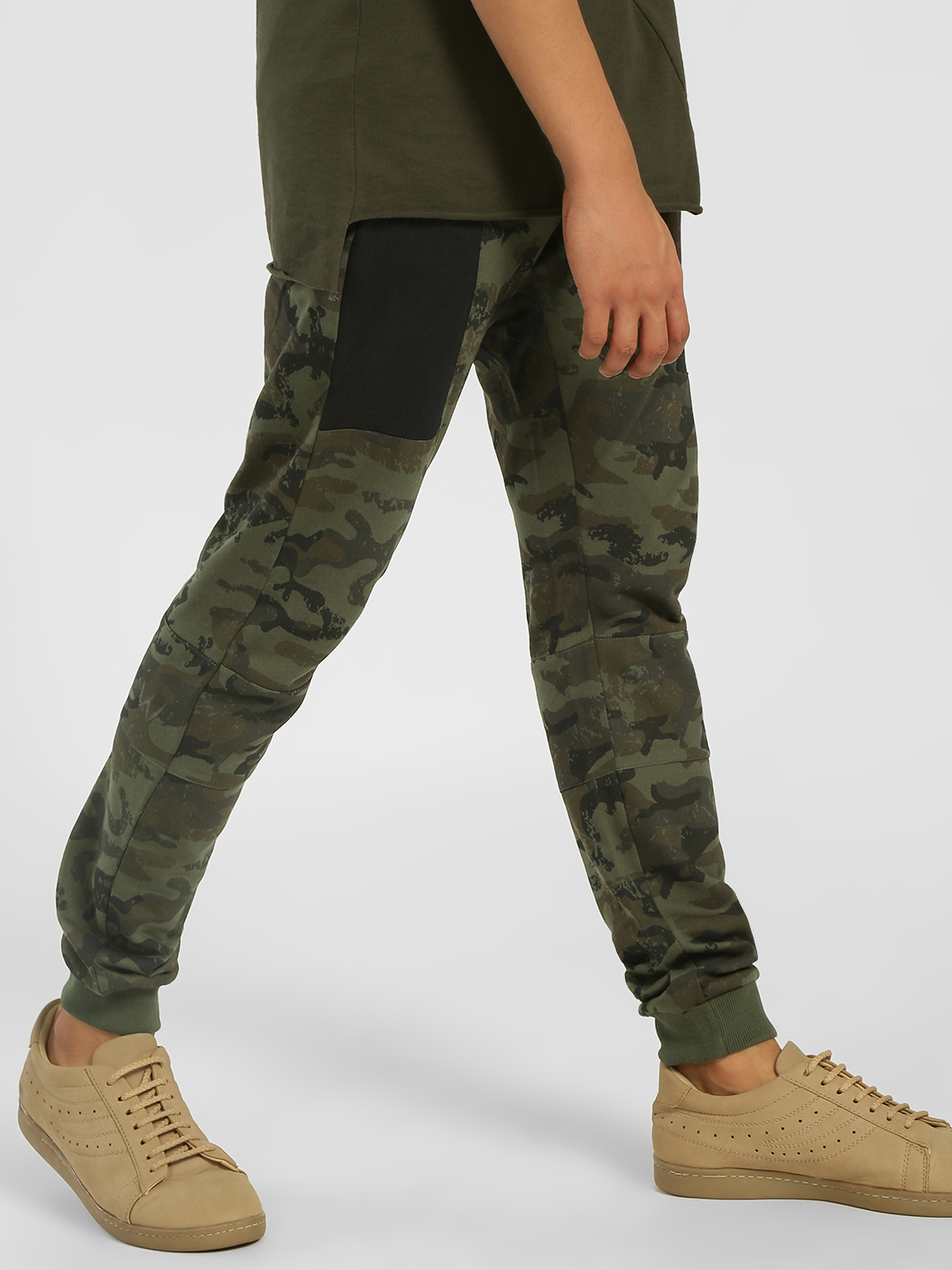 SKULT By Shahid Kapoor Multi Camo Print Side Panel Joggers 1