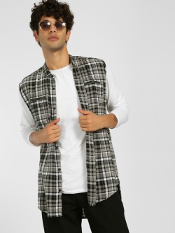 SKULT By Shahid Kapoor Sleeveless Check Jacket