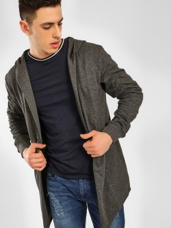 SKULT By Shahid Kapoor Hooded Neck Waterfall Cardigan