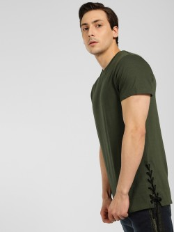 SKULT By Shahid Kapoor Lace-Up Detail T-Shirt