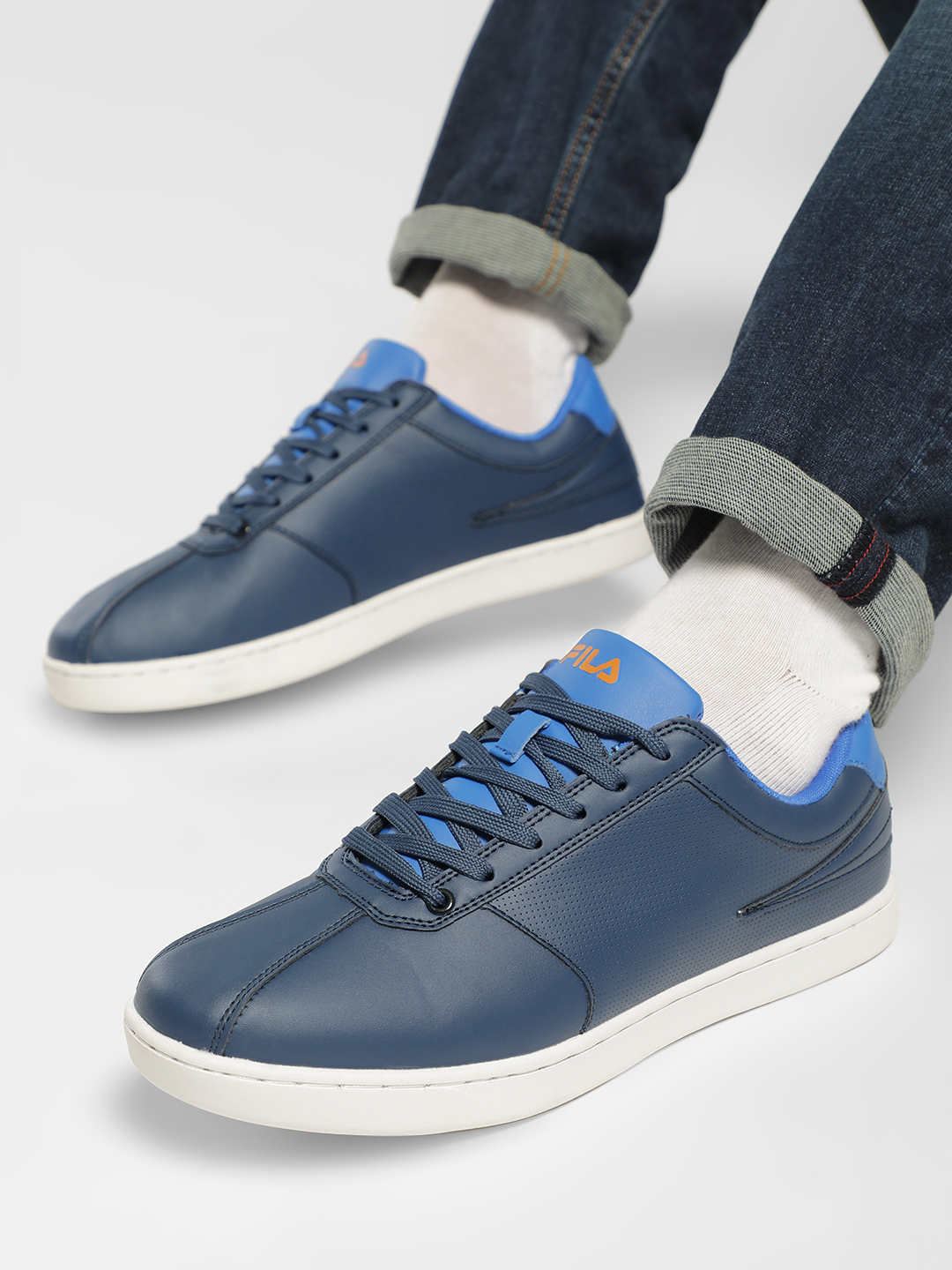 Fila Blue Cobi Perforated Contrast Tongue Sneakers 1