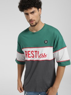 X.O.Y.O Restless Print Colour Block T-Shirt
