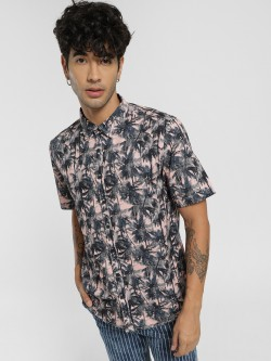Styx & Stones Tropical Print Short Sleeve Shirt