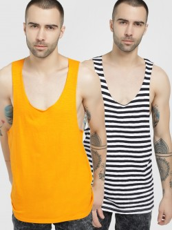 KOOVS Racerback Scoop Neck Vest (Pack Of 2)
