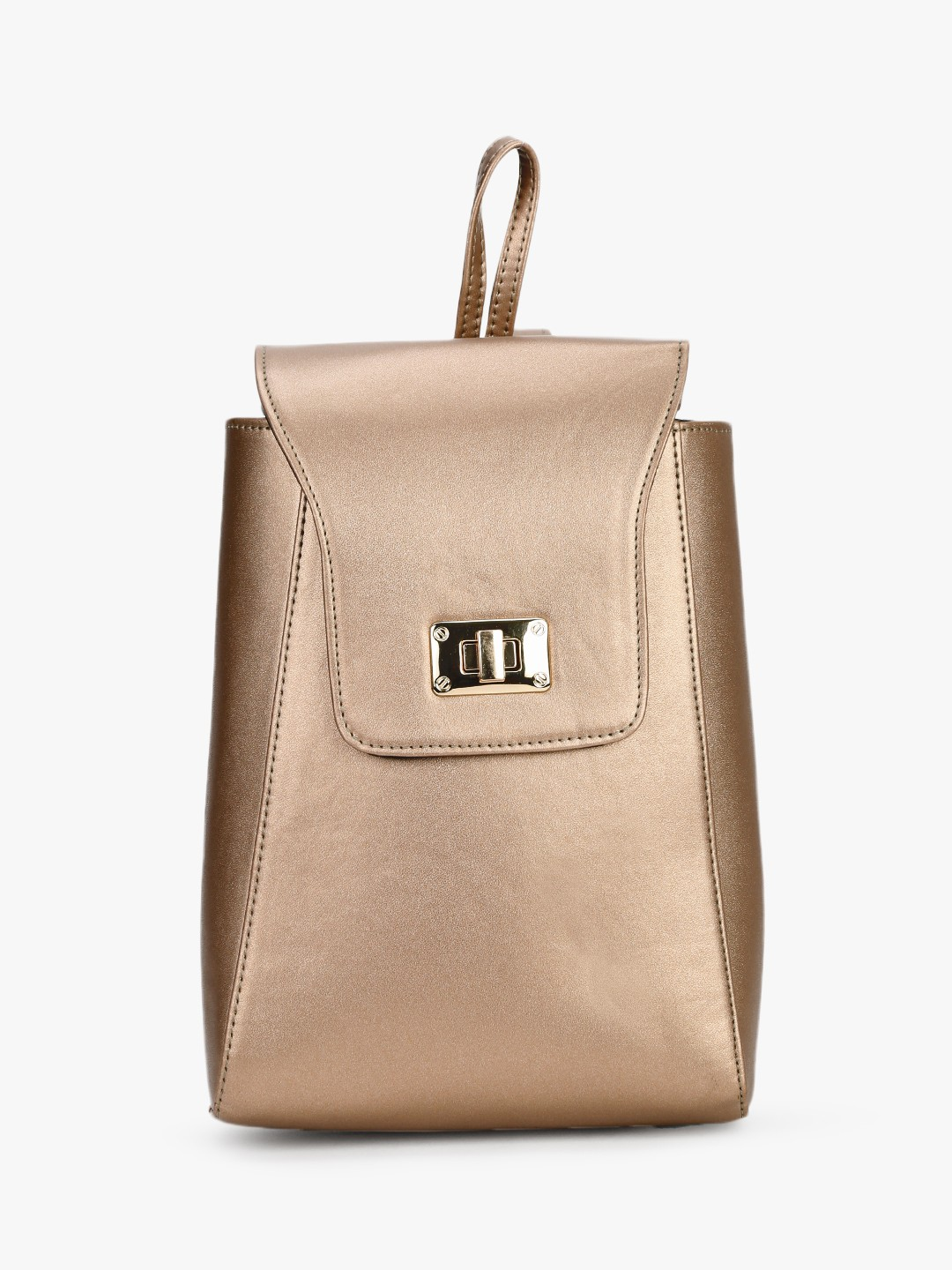 Gusto Gold Structured Metallic Backpack 1