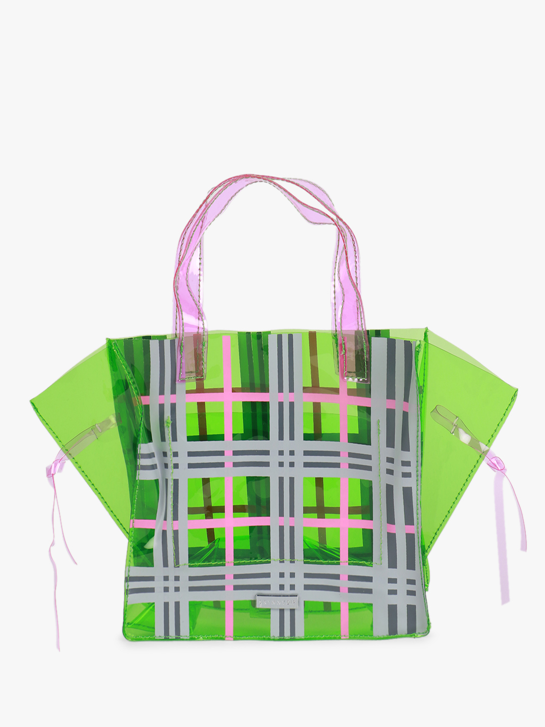 Skinny Dip Multi Mae Check Tote Bag 1