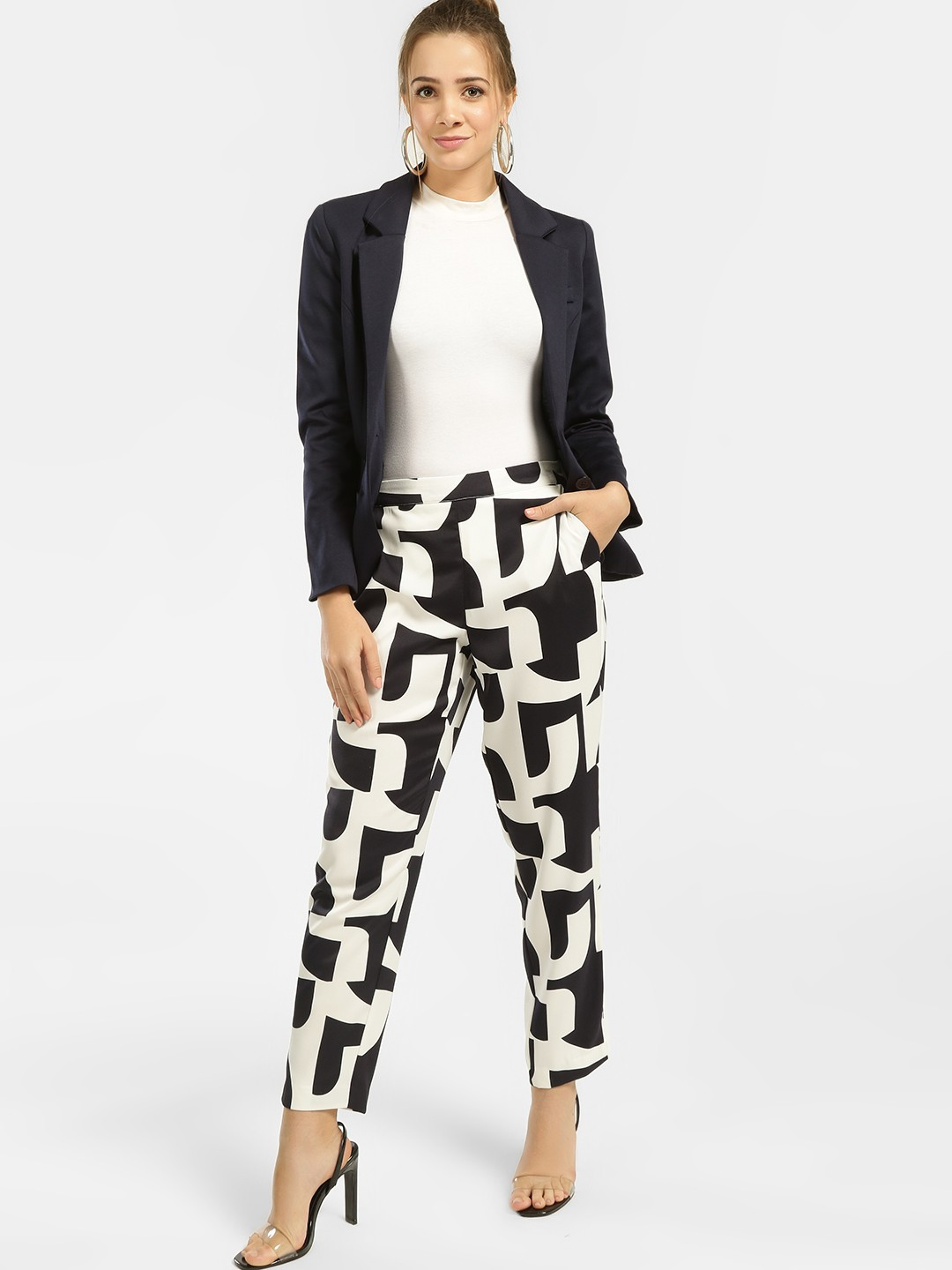 Vero Moda Multi Abstract Print Trousers 1