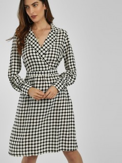 Vero Moda Polka Dot Wrap Shift Dress