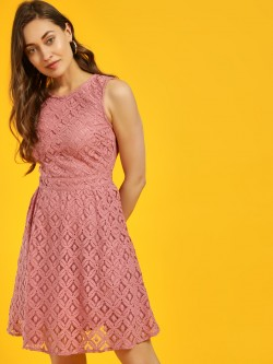 Vero Moda Lace Sleeveless Skater Dress