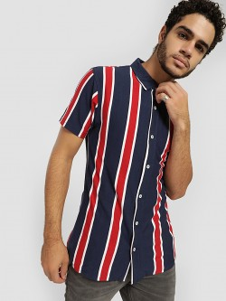 Garcon Vertical Stripe Knitted Shirt