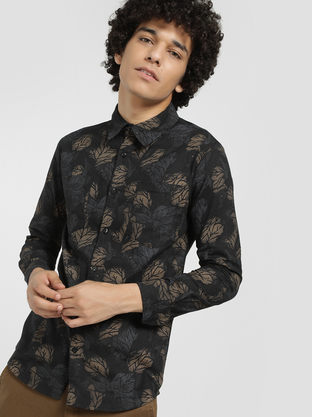 Fighting Fame Brown All Over Print Shirt 1