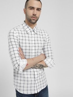 Fighting Fame Double Stripe Grid Check Shirt
