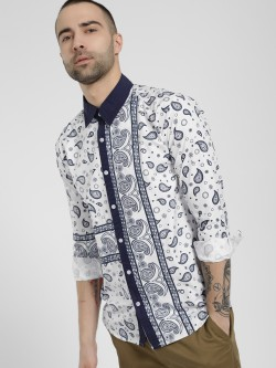 Fighting Fame Paisley Print Long Sleeve Shirt