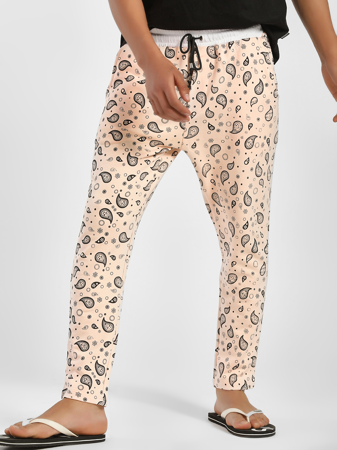 Fighting Fame Pink Paisley Print Joggers 1