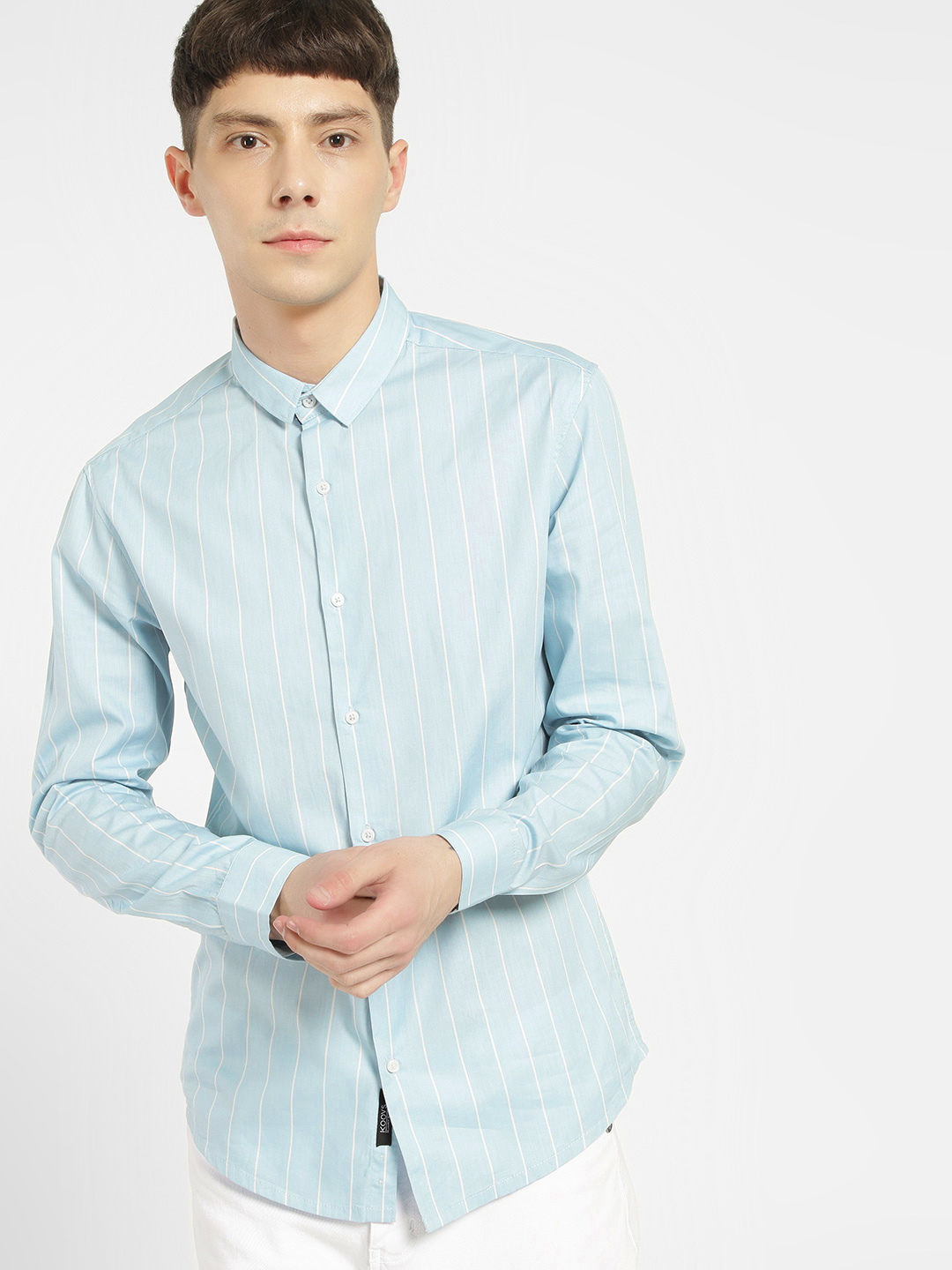 KOOVS Multi Pinstripe Print Smart Shirt 1