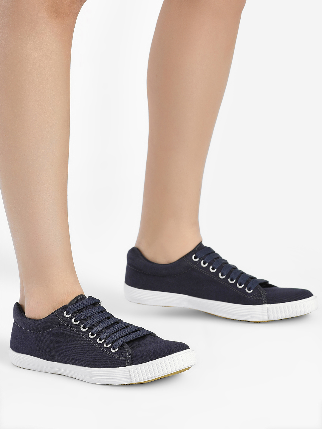 KOOVS Navy Basic Lace Up Sneakers 1