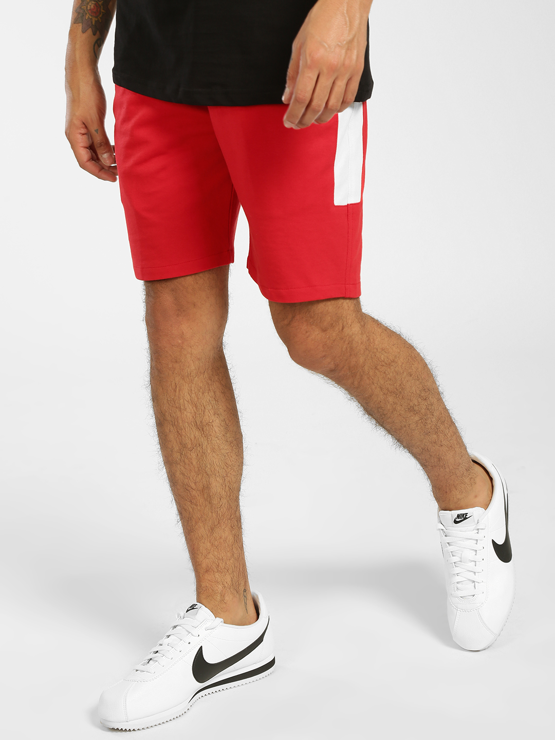 Tiktauli Red Contrast Side Panel Shorts 1