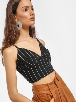 Spring Break Striped Crop Top