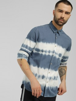 Flying Machine Tie & Dye Casual Shirt