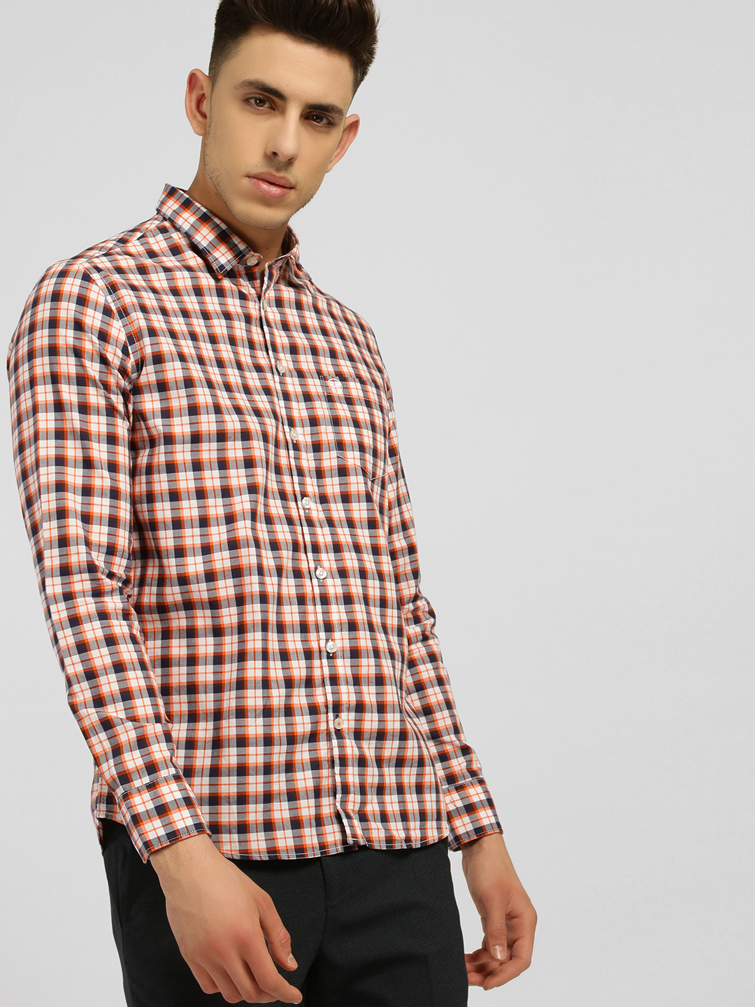 SCULLERS Red Multi Check Casual Shirt 1