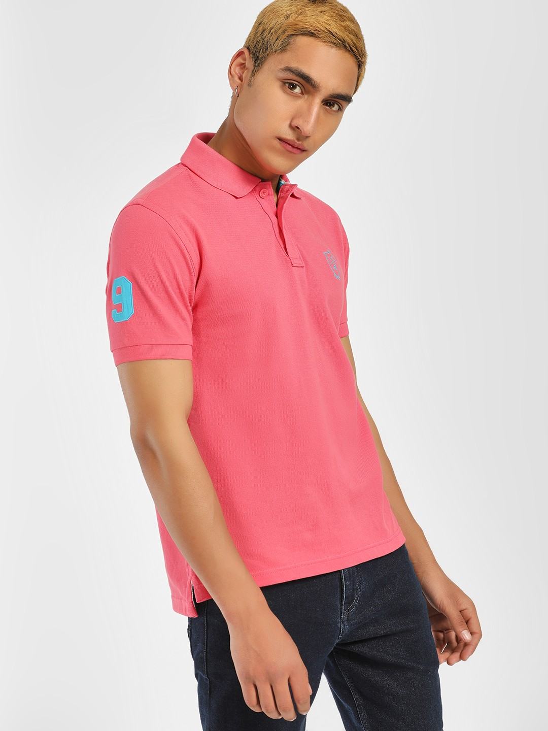 SCULLERS Pink Muscle Fit Polo Shirt 1