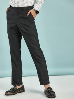 Indigo Nation Glen Check Slim Formal Trousers