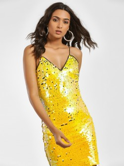 Moguland Sequin Embellished Cami Bodycon Dress