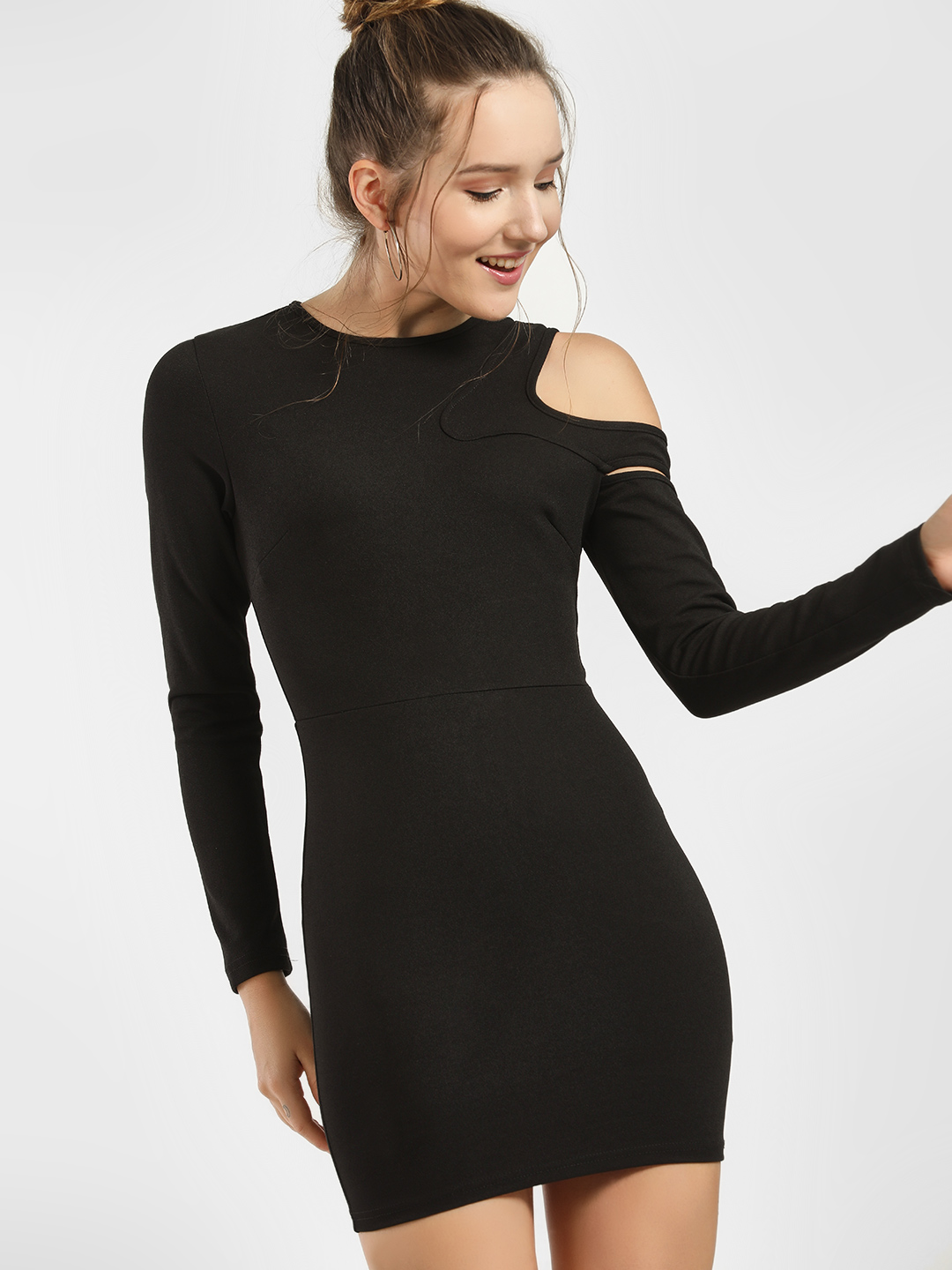 JJ's Fairyland Black Cold Shoulder Bodycon Dress 1