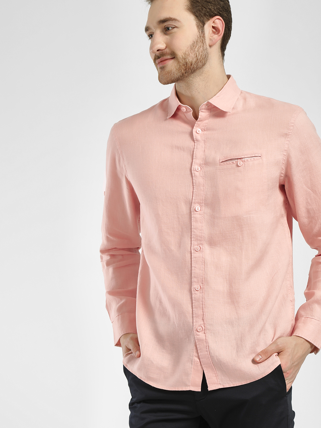 Celio Pink Basic Casual Shirt 1