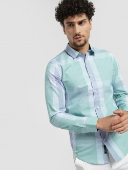 KOOVS Micro Check Smart Shirt