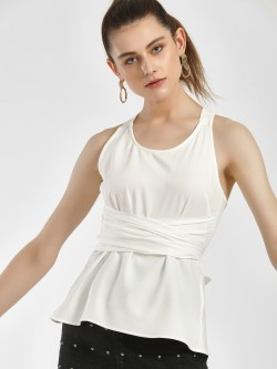 Ri-Dress Back Knot Wrap Sleeveless Blouse