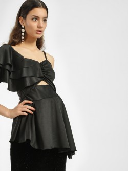 Ri-Dress One Shoulder Asymmetric Blouse