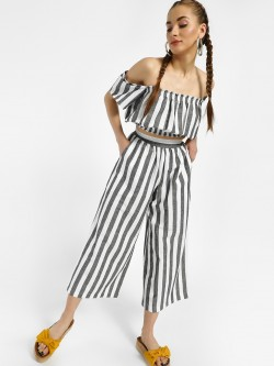 Spring Break Woven Stripe Palazzo Pants
