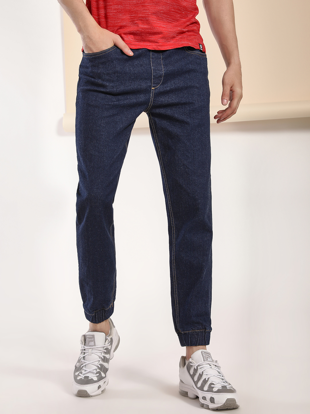 Blue Saint Blue Basic Slim Fit Denim Joggers 1