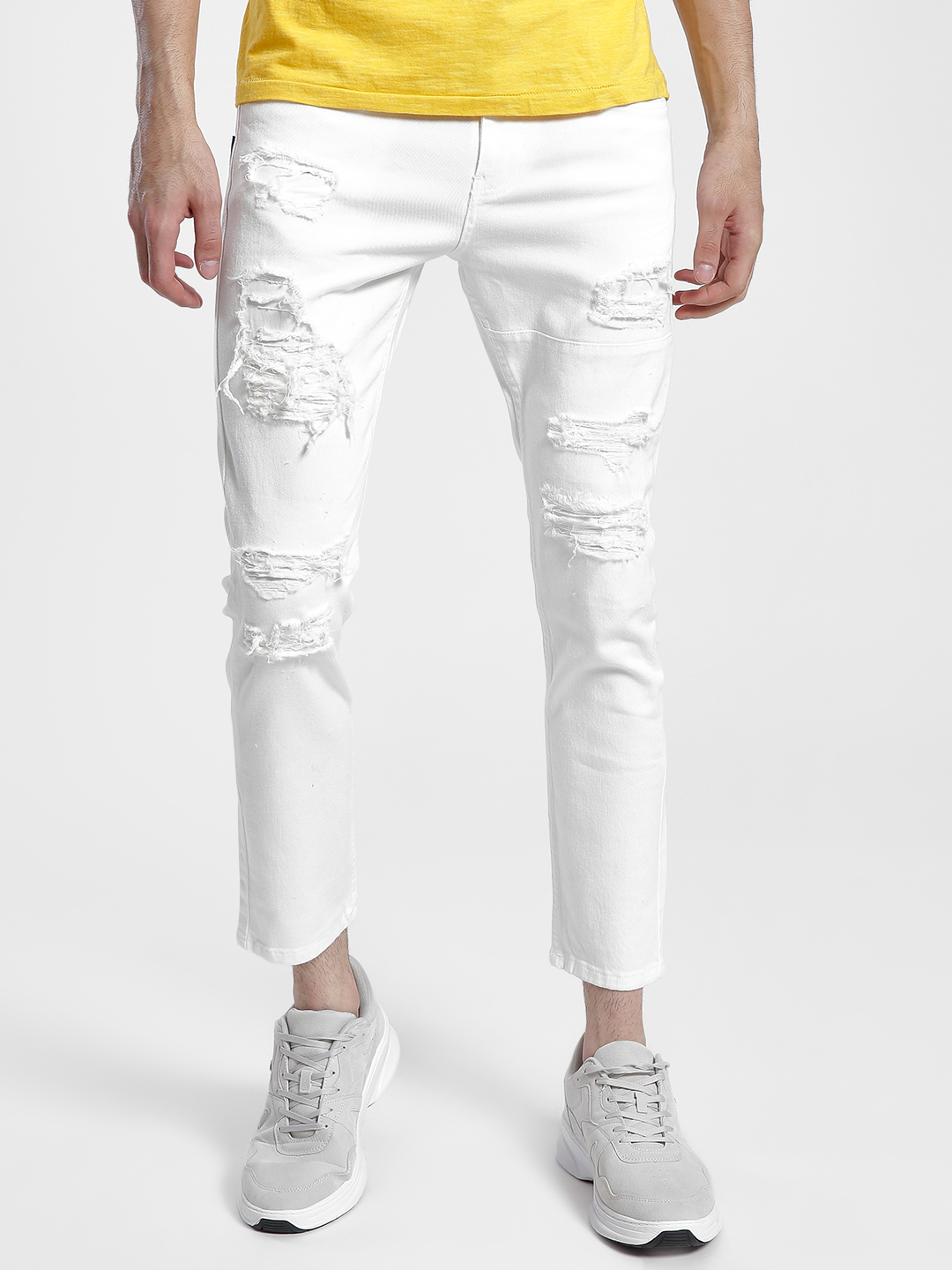 Blue Saint White Distressed Skinny Jeans 1