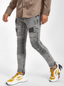 Blue Saint Acid Wash Biker Skinny Jeans