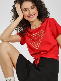 Free Authority Foil Superman Logo Print T-Shirt